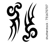 tattoo tribal designs. sketched ... | Shutterstock .eps vector #751670707