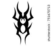 tattoo tribal vector design.... | Shutterstock .eps vector #751670713