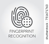 fingerprint recognition line... | Shutterstock .eps vector #751671763