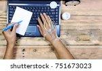 a working people  working even... | Shutterstock . vector #751673023