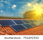 solar panel photovoltaic... | Shutterstock . vector #751692553