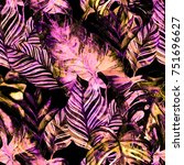 watercolor seamless pattern... | Shutterstock . vector #751696627