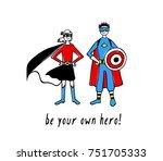 vector illustration of a boy... | Shutterstock .eps vector #751705333