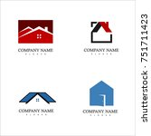 set of real estate logo | Shutterstock .eps vector #751711423