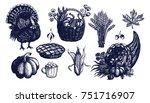Thanksgiving Day Symbols Set ...