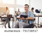 disabled person in the... | Shutterstock . vector #751728517