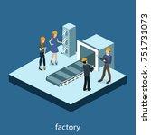 isometric 3d illustration... | Shutterstock . vector #751731073