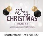 merry christmas  christmas... | Shutterstock .eps vector #751731727