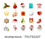 christmas time   set of... | Shutterstock .eps vector #751732237