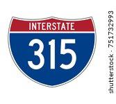 interstate highway 315 road... | Shutterstock .eps vector #751732993