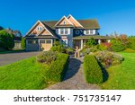 big custom made luxury house at ... | Shutterstock . vector #751735147