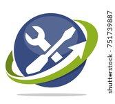 logo icons for mechanical... | Shutterstock .eps vector #751739887