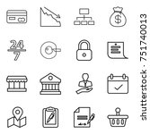 thin line icon set   card ... | Shutterstock .eps vector #751740013