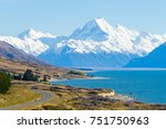 mount cook viewpoint with the... | Shutterstock . vector #751750963