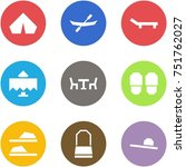 origami corner style icon set   ... | Shutterstock .eps vector #751762027