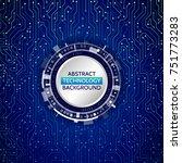high tech technology background ... | Shutterstock .eps vector #751773283