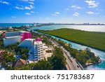 cancun aerial view of hotel... | Shutterstock . vector #751783687