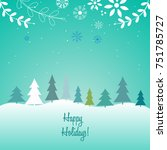 merry christmas and happy new... | Shutterstock .eps vector #751785727