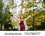blissful pregnant woman... | Shutterstock . vector #751788577