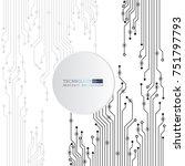 vector circuit board... | Shutterstock .eps vector #751797793