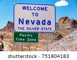 welcome to nevada sign on the... | Shutterstock . vector #751804183
