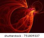 abstract fractal illustration.... | Shutterstock . vector #751809337