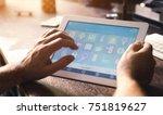 smart house device smartphone... | Shutterstock . vector #751819627