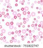 seamless floral pattern in... | Shutterstock .eps vector #751822747