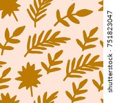 cute tropical seamless pattern... | Shutterstock .eps vector #751823047