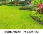 landscaped formal garden front... | Shutterstock . vector #751825723