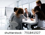 group of architects working... | Shutterstock . vector #751841527