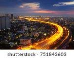 transportation in modern city ... | Shutterstock . vector #751843603