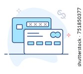 vector credit cards icon   Shutterstock .eps vector #751850377