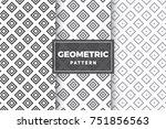 geometric pattern set. simple ... | Shutterstock .eps vector #751856563