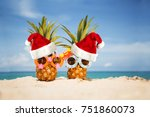 couple of funny attractive... | Shutterstock . vector #751860073
