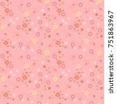 seamless little flowers texture.... | Shutterstock .eps vector #751863967