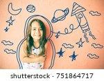 children's imagination. child...   Shutterstock . vector #751864717