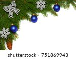 christmas background. top view... | Shutterstock . vector #751869943
