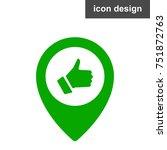location marker like icon | Shutterstock .eps vector #751872763