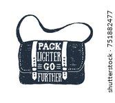hand drawn messenger bag... | Shutterstock .eps vector #751882477