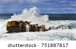 stormy windy weather at... | Shutterstock . vector #751887817