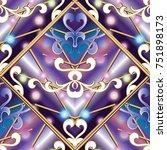 vintage seamless pattern.... | Shutterstock .eps vector #751898173