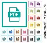 pdf file format flat color... | Shutterstock .eps vector #751903873