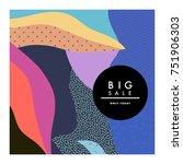 creative sale header or banner... | Shutterstock .eps vector #751906303