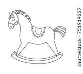 rocking horse contour | Shutterstock .eps vector #751914337