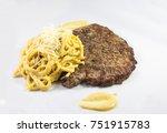 fideos con salsa a la huancaina ... | Shutterstock . vector #751915783