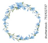 vector floral wreath of blue...   Shutterstock .eps vector #751922737