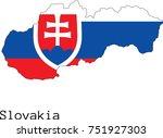 vector slovakia map silhouette  ...   Shutterstock .eps vector #751927303