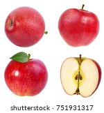 apple on a white background | Shutterstock . vector #751931317