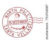 north pole  santa village... | Shutterstock .eps vector #751933087
